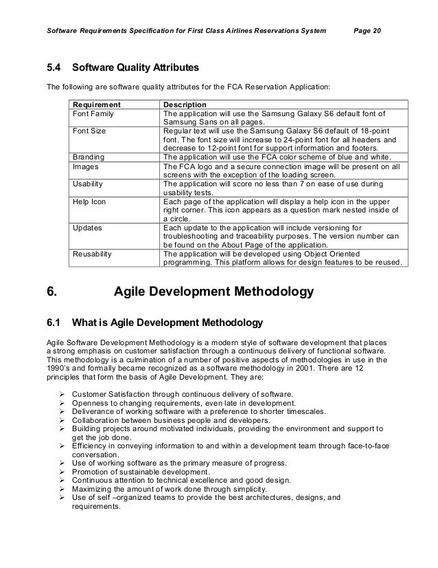 User Requirements Specification Template