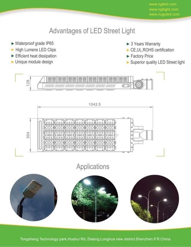 210W Rotable LED Modular Street Light Slide 2
