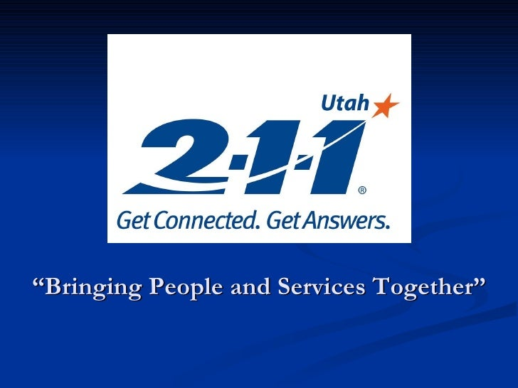 """ Bringing People and Services Together"""