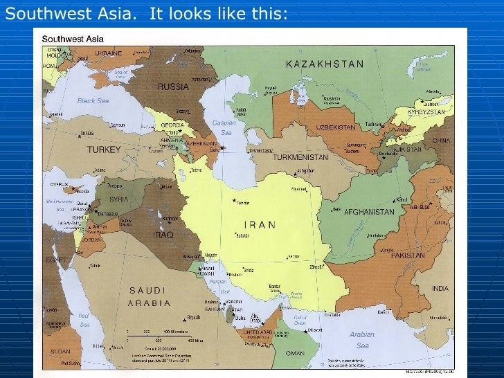 SW Asia Landforms Resources - Map of egypt landforms