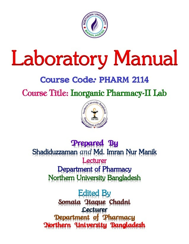 Qualitative Analysis Of Salts Lab Manual MANIK