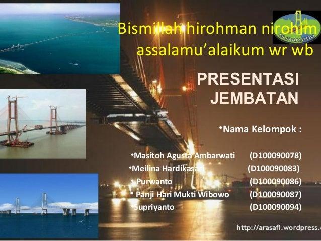 21173129 Power Point Bangunan Jembatan Teknik Sipil