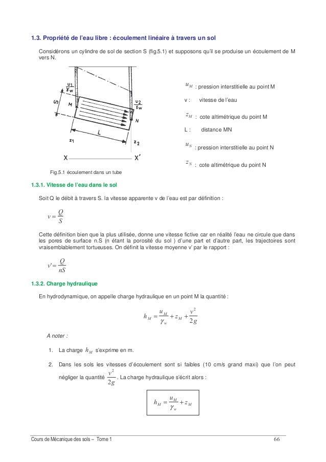 - Fig. 5.6. : Perméamètre à charge variable A noter : 1. 10-6 cm/s représente une vitesse de 30 cm/an, 2. Il est utilisé p...