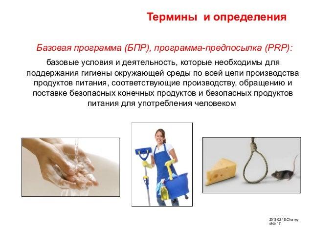 2013-02 / S.Chornyy slide 17 Термины и определения Базовая программа (БПР), программа-предпосылка (PRP): базовые условия и...