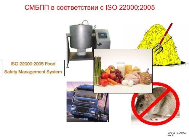2012-05 / S.Chornyy slide 31 СМБПП в соответствии с ISO 22000:2005