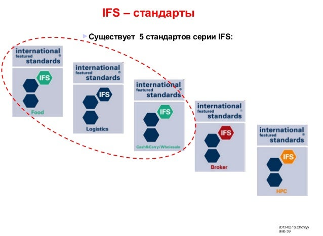 2013-02 / S.Chornyy slide 39 IFS – стандарты ►Существует 5 стандартов серии IFS: