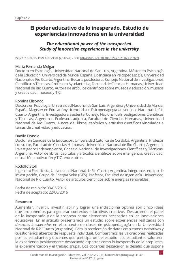 Revista Cuadernos de Investigación Educativa. Edición julio-diciembre…