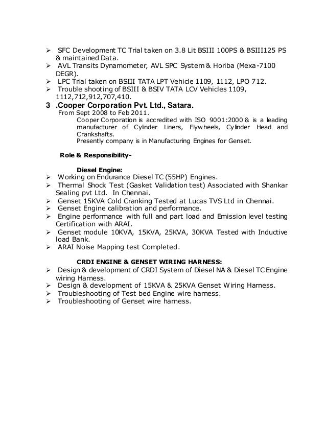 resume final on wiring harness sample resume - Harness Design Engineer Sample Resume