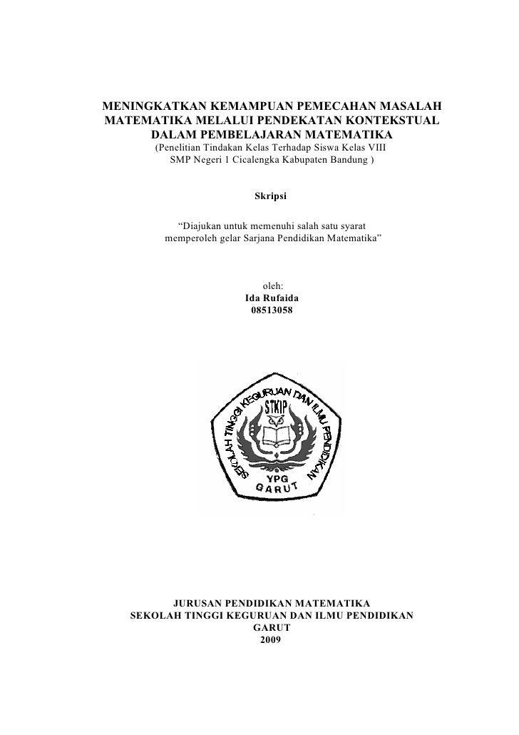 Skripsi Matematika Keuangan Ide Judul Skripsi Universitas