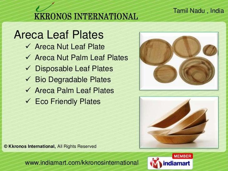 sc 1 st  SlideShare & Areca Leaf Plates by Kkronos International Coimbatore