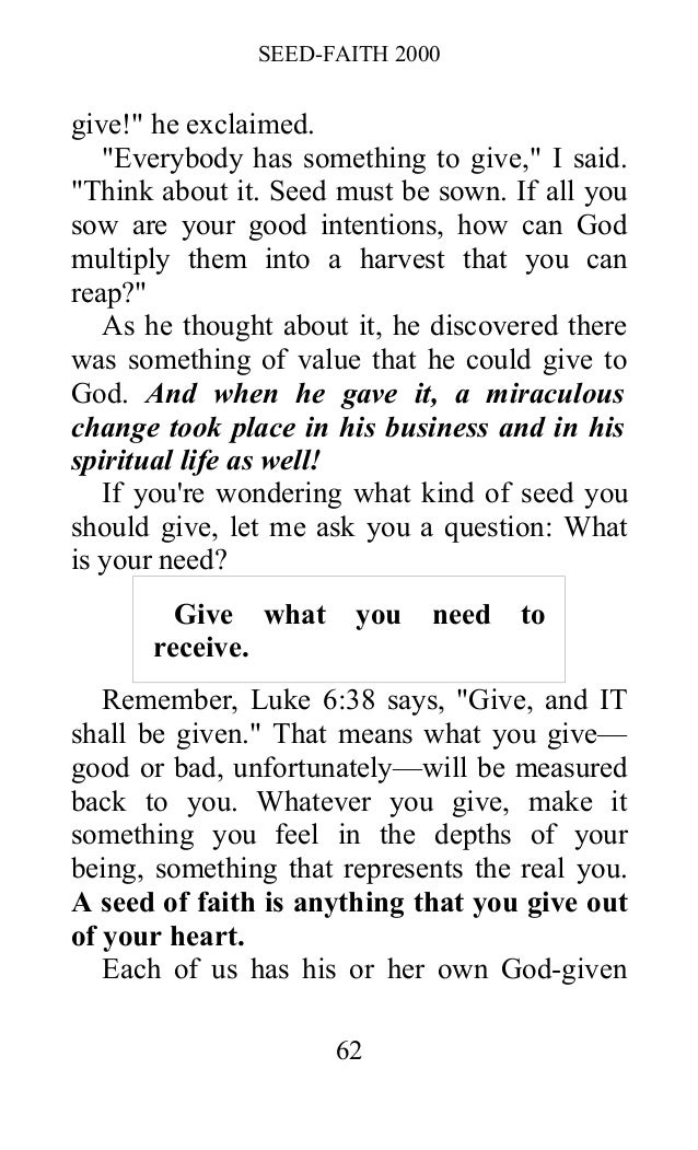 Suggest you Oral roberts seed faith the amusing