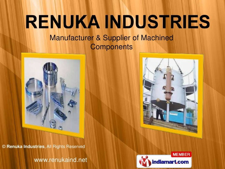 Manufacturer & Supplier of Machined <br />Components<br />