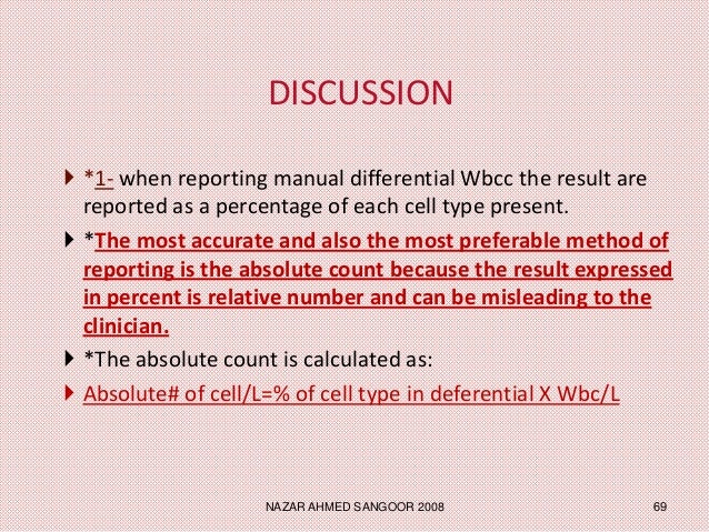 an in depth look at leukocytes and the leukocyte deferential count Definition a wbc count is a blood test to measure the number of white blood  cells (wbcs) in the blood wbcs are also called leukocytes.