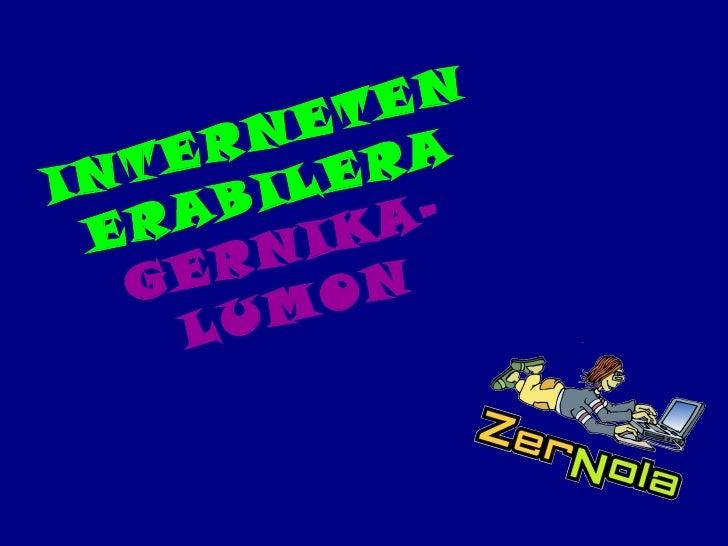 INTERNETEN ERABILERA   GERNIKA-LUMON