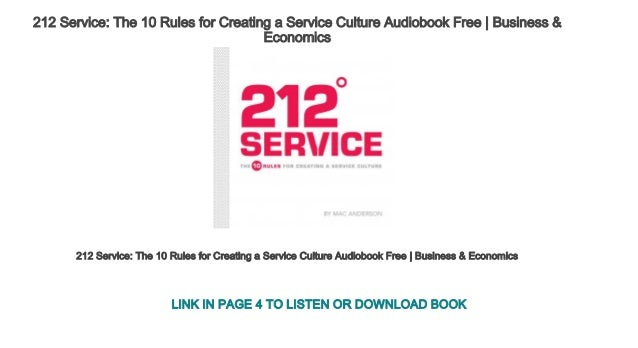212 Service: The 10 Rules for Creating a Service Culture