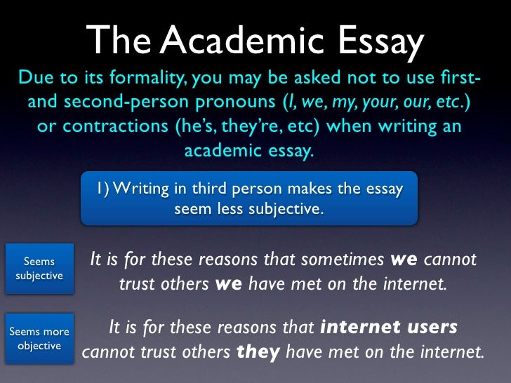 Examples of Writing in Second Person