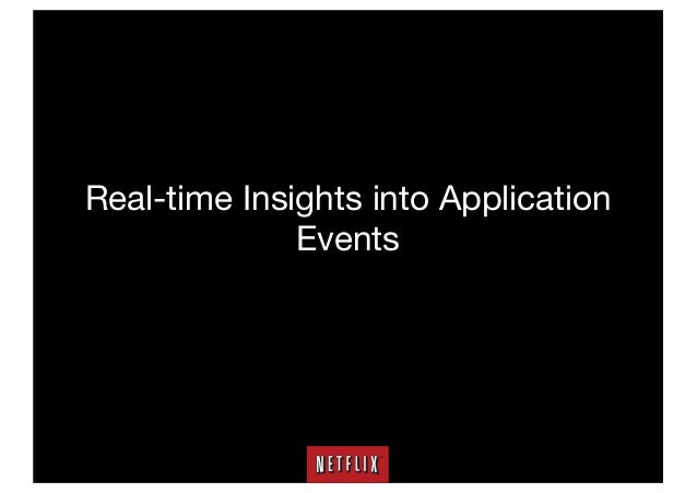 Real-time Insights into Application Events