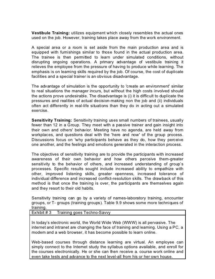 hr project training development pdf