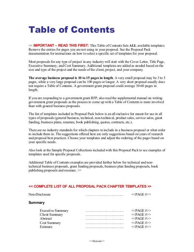 project proposal templates  bundle