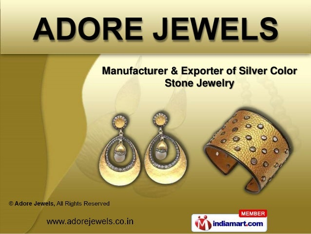 Manufacturer & Exporter of Silver Color           Stone Jewelry