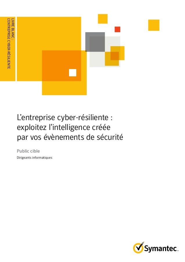 LIVRE BLANC : L'entreprise cyber-résiliente : exploitez l'intelligence créée par vos évènements de sécurité