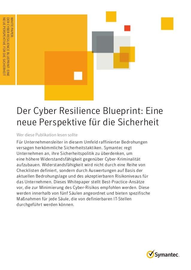 WHITEPAPER: Der Cyber Resilience Blueprint: Eine neue Perspektive für die Sicherheit