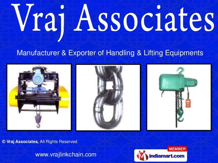 Manufacturer & Exporter of Handling & Lifting Equipments<br />