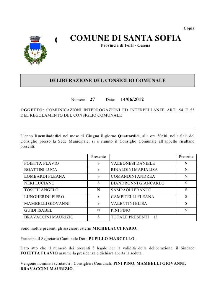 Copia                  COMUNE DI SANTACesena SOFIA                    COMUNE DI SANTA                          Provincia d...