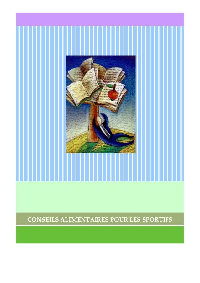 CONSEILS ALIMENTAIRES POUR LES SPORTIFS