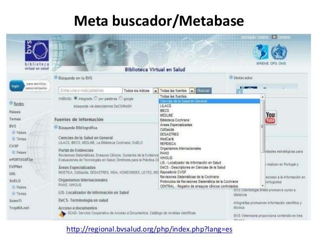 Buscador (Pubmed)/ Base de datos (Medline) http://www.ncbi.nlm.nih.gov/pubmed/
