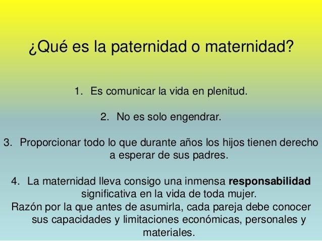 213 maternidad responsable for Derecho de paternidad