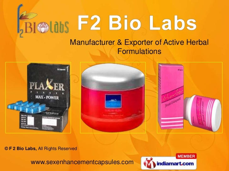 Manufacturer & Exporter of Active Herbal                                            Formulations© F 2 Bio Labs, All Rights...