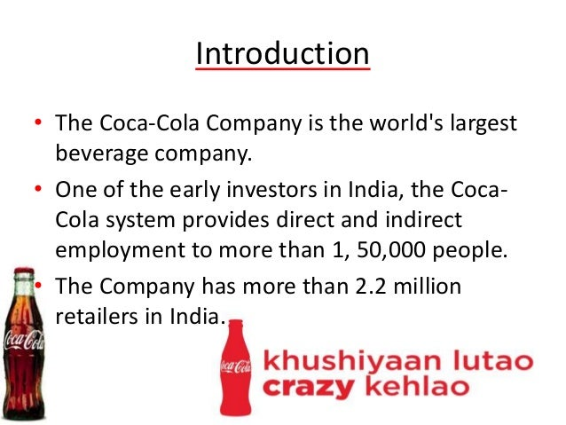introduction of cocacola