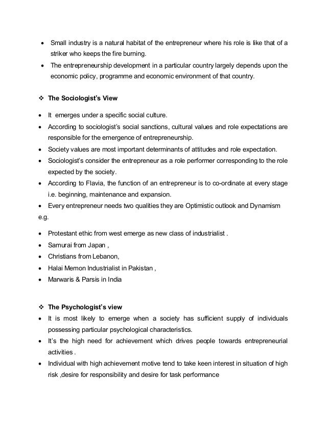 enterperneurship and notes As we can see, entrepreneurship policies have a variety of objectives it must also be noted that many of these policies have more than one objective sometimes, these complex combinations of objectives can seem to be conflicting with each other entrepreneurial awareness has been included in the.