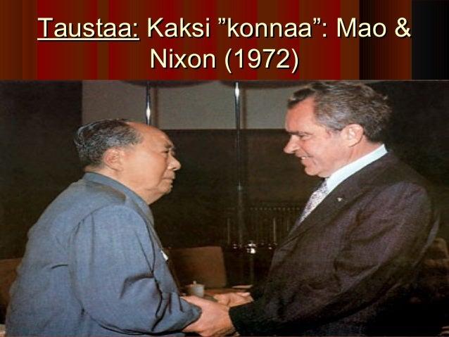 """Taustaa: Kaksi """"konnaa"""": Mao &         Nixon (1972)"""