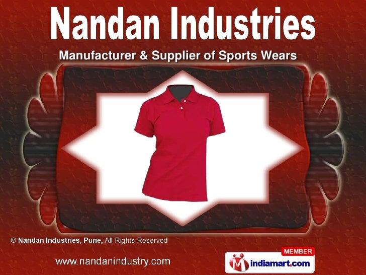 Manufacturer & Supplier of Sports Wears