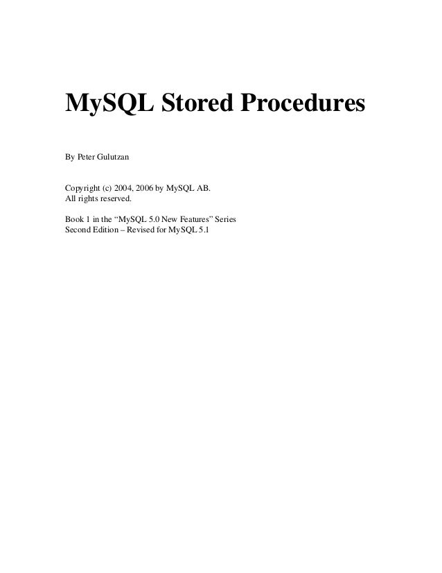 21574 mysql stored procedures rh slideshare net