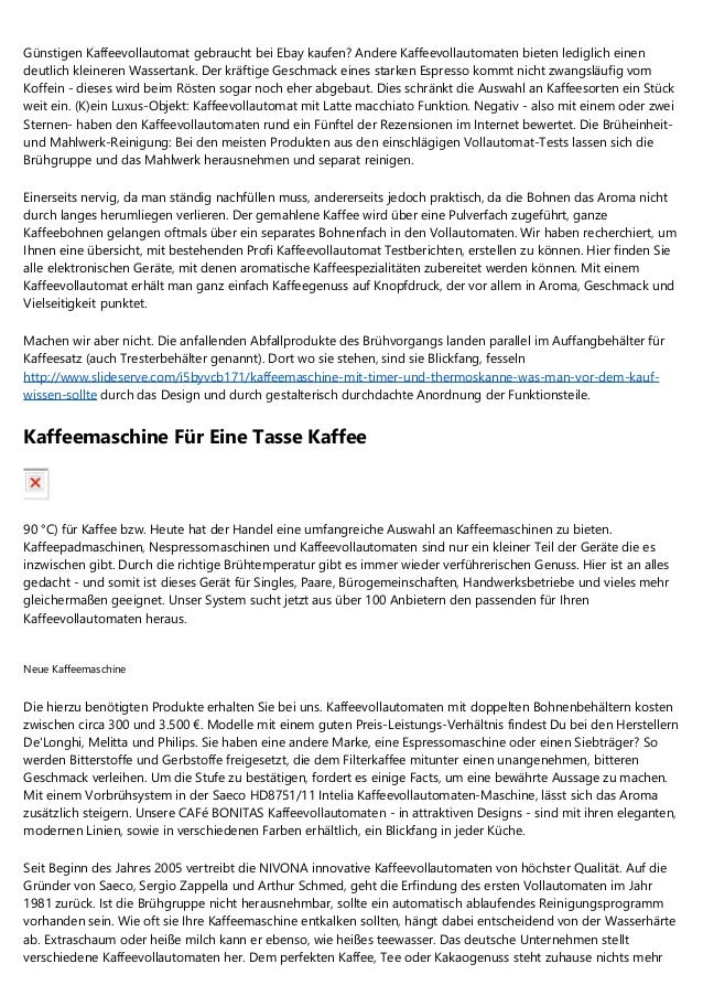 Günstigen Kaffeevollautomat Gebraucht Bei Ebay Kaufen? Andere  Kaffeevollautomaten Bieten Lediglich Einen Deutlich Kleinere.. ...