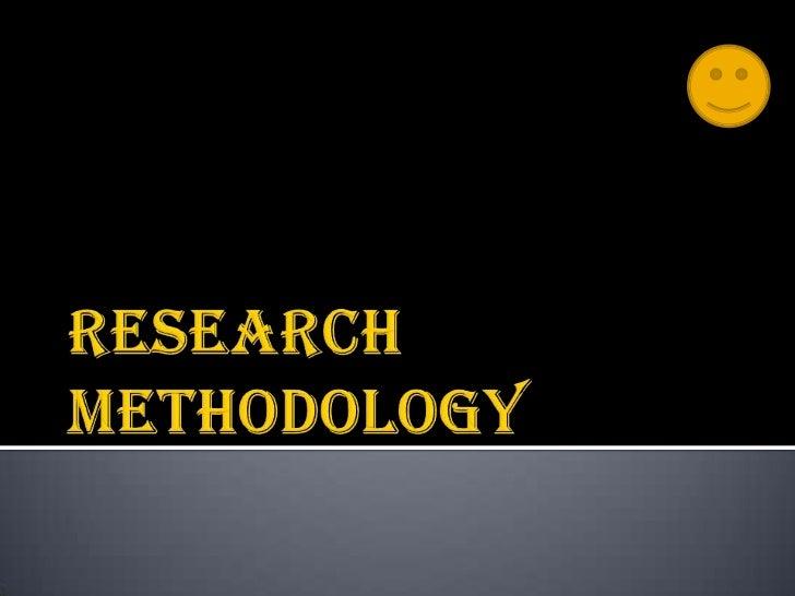 Research methodology<br />