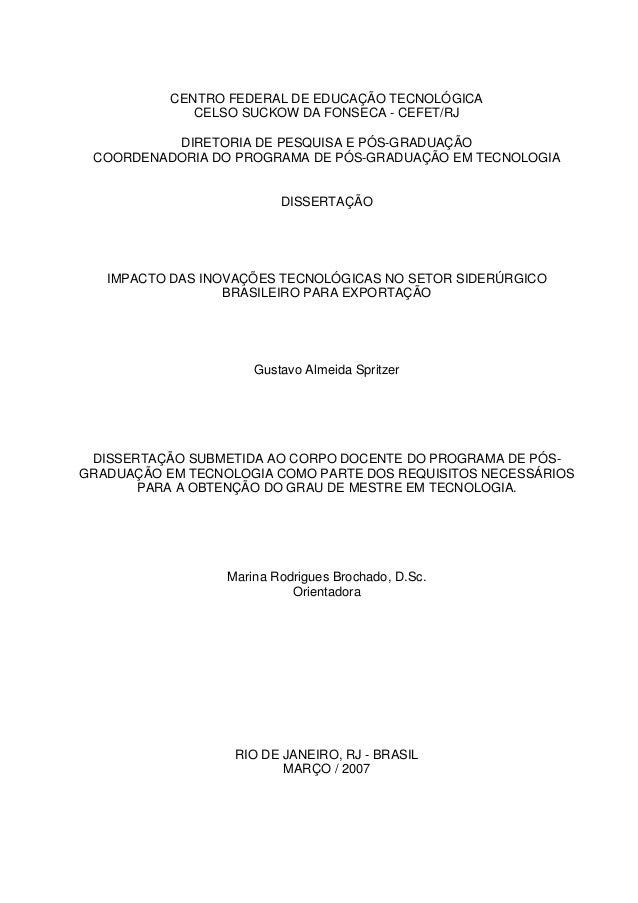 CENTRO FEDERAL DE EDUCAÇÃO TECNOLÓGICA CELSO SUCKOW DA FONSECA - CEFET/RJ DIRETORIA DE PESQUISA E PÓS-GRADUAÇÃO COORDENADO...