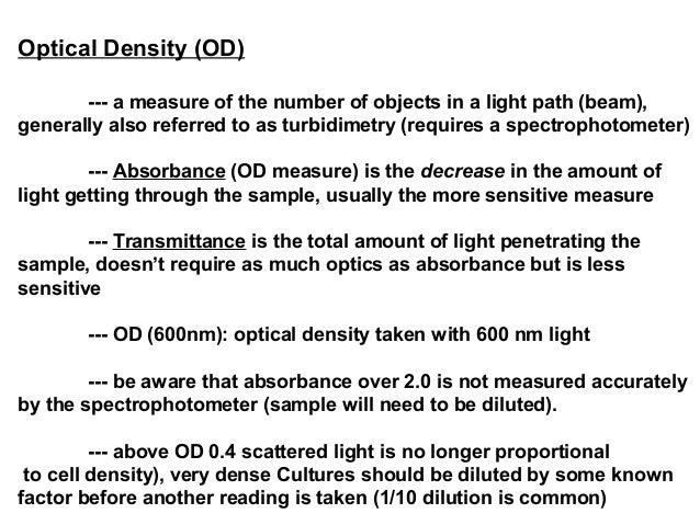 how to get cell count from optical density