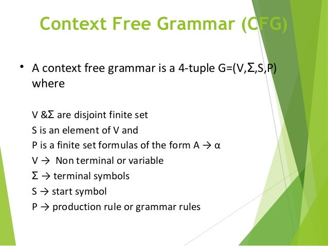 applications of context free grammar in theory of computation