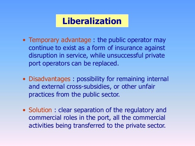 disadvantages of privatization in insurance sector Is the government ready or they still had to study further the advantages and disadvantages of private prisons  service to private sector, the possibility to cut .