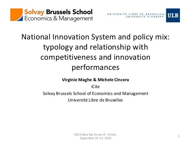 National Innovation System and policy mix: typology and relationship with competitiveness and innovation performances Virg...