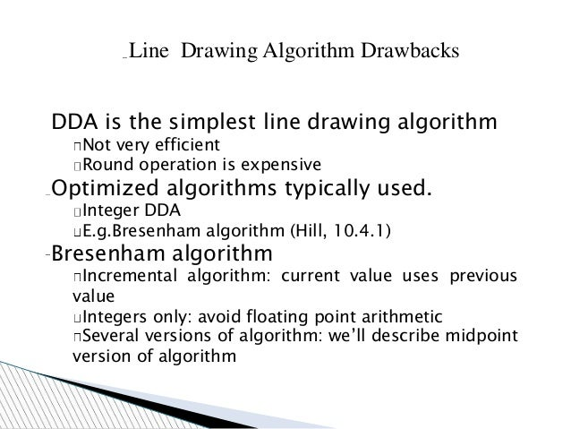 Line Drawing Using Dda Algorithm : Dda algorithm