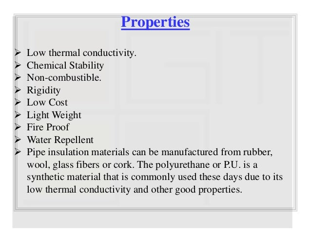 Ppt Of Thermal Insulating Materials