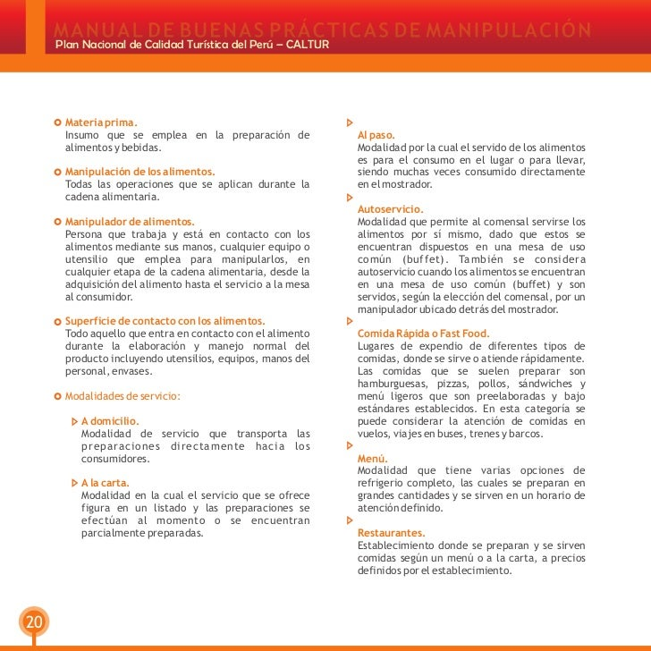 Manual de buenas practicas de manufactura en restaurants for Manual de buenas practicas de manufactura en alimentos