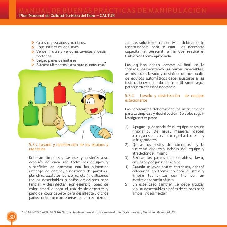 21658943 manual de buenas practicas de manipulacion de for Manual de limpieza y desinfeccion en restaurantes