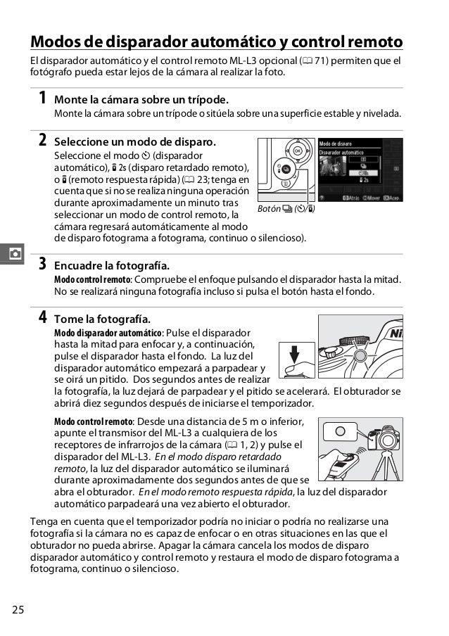 Cámara Digital NIKON D3200 Manual en español