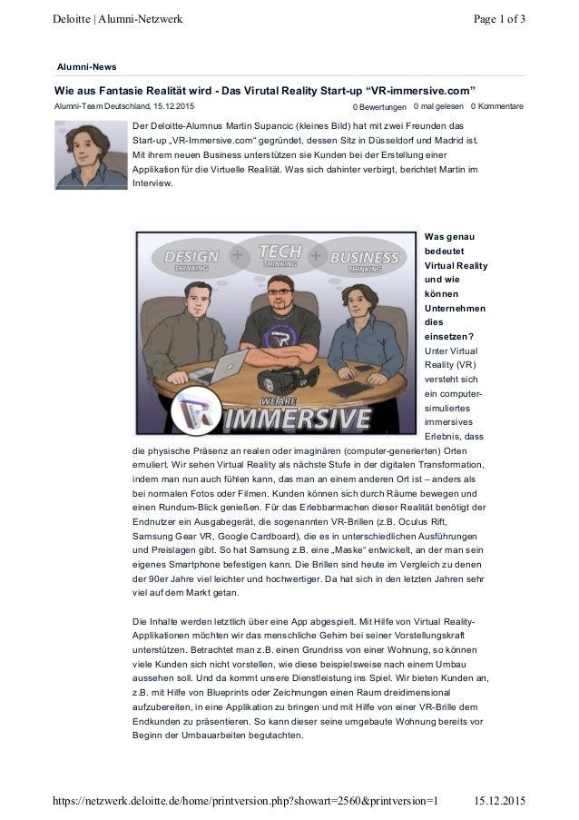 Alumni-Team Deutschland, 15.12.2015 0 Bewertungen 0 mal gelesen 0 Kommentare Der Deloitte-Alumnus Martin Supancic (kleines...